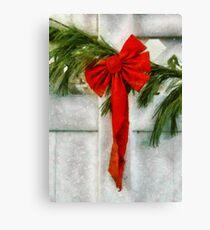 Christmas - Ribbon Canvas Print