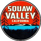 Ski Squaw Valley California Skiing Vintage Style by MyHandmadeSigns