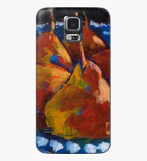 Red Pears in Blue Bowl Case/Skin for Samsung Galaxy