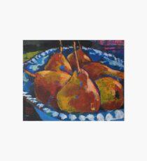 Red Pears in Blue Bowl Art Board