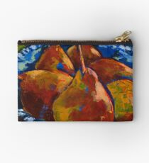Red Pears in Blue Bowl Studio Pouch