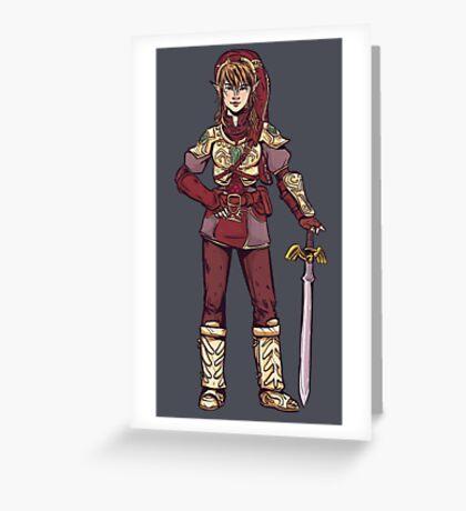 Lady Linka Greeting Card