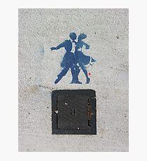 Sidewalk Dancers (stencil graffiti) Photographic Print