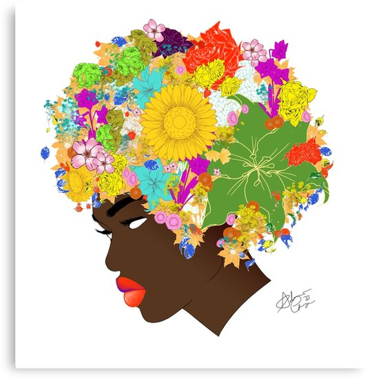 Flower 'Fro version 2 by AndiesPlace