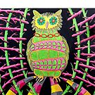 419 - BLING OWL - DAVE EDWARDS - COLOURED PENCILS - 2015 by BLYTHART