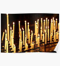 Candles, Como Italy Poster