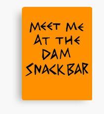 The Dam Snack Bar Canvas Print