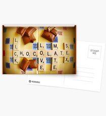Seductive Chocolate Postcards