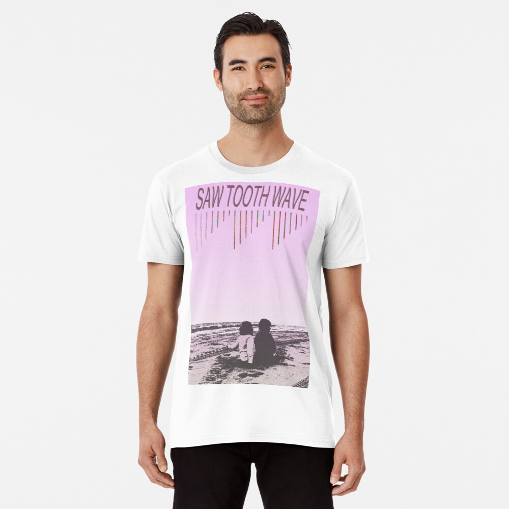 Saw Tooth Wave - On the Beach Premium T-Shirt