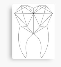 Geo Tooth Canvas Print