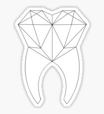 Geo Tooth Sticker