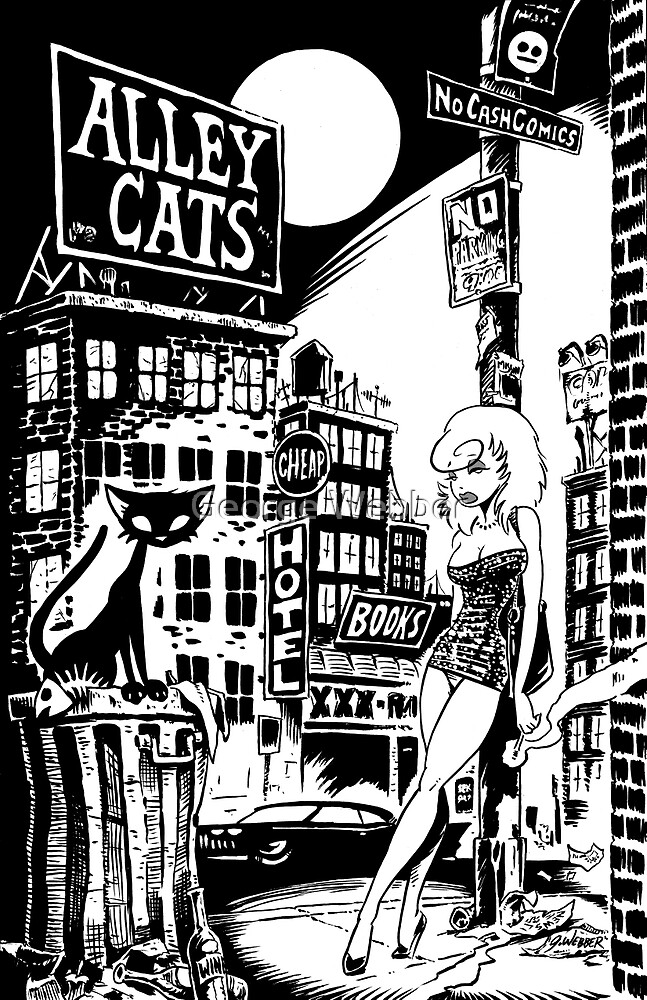 ALLEY CATS - COVER POSTER by George Webber