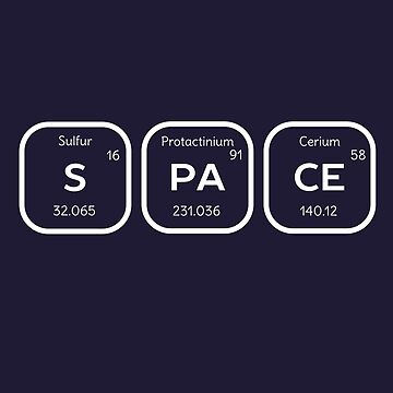 Space Periodic Table of Elements  by happinessinatee