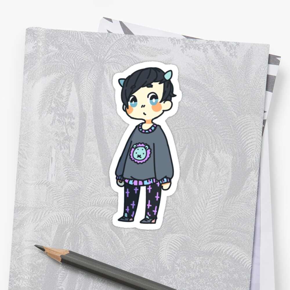 dan + phil: pastel goth phil 2 by Lungwort