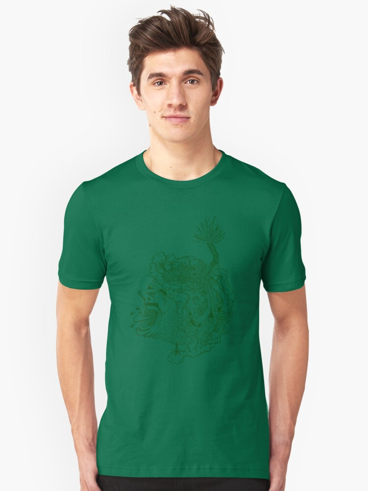 earth screaming! Unisex T-Shirt Front
