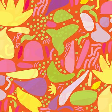 Colorful tropical shapes by enlarsen
