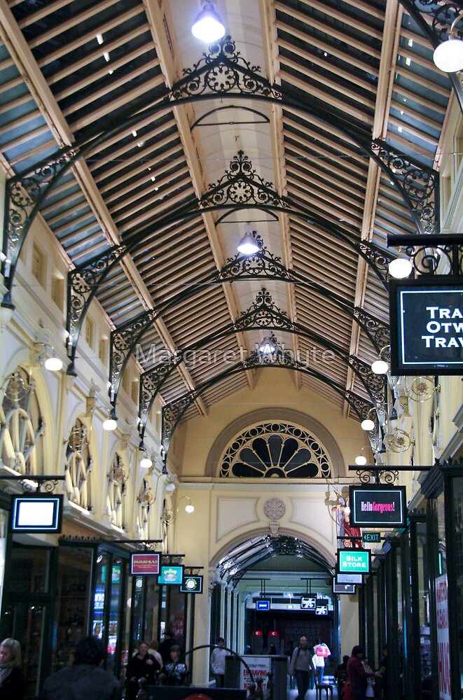 Melbourne arcade by Margaret Whyte