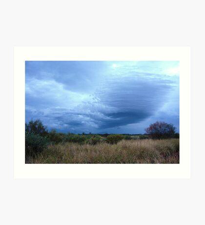 Rain clouds over the Tanami Desert Art Print