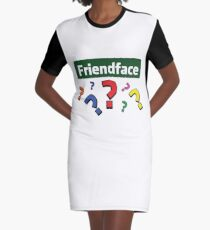 Friendface Question Marks Graphic T-Shirt Dress