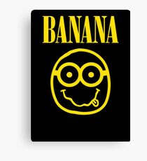 Nirvana Banana Logo Canvas Print