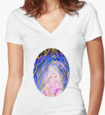 Trees - Towards the Light Fitted V-Neck T-Shirt