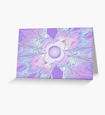 Design WIth Purple Greeting Card