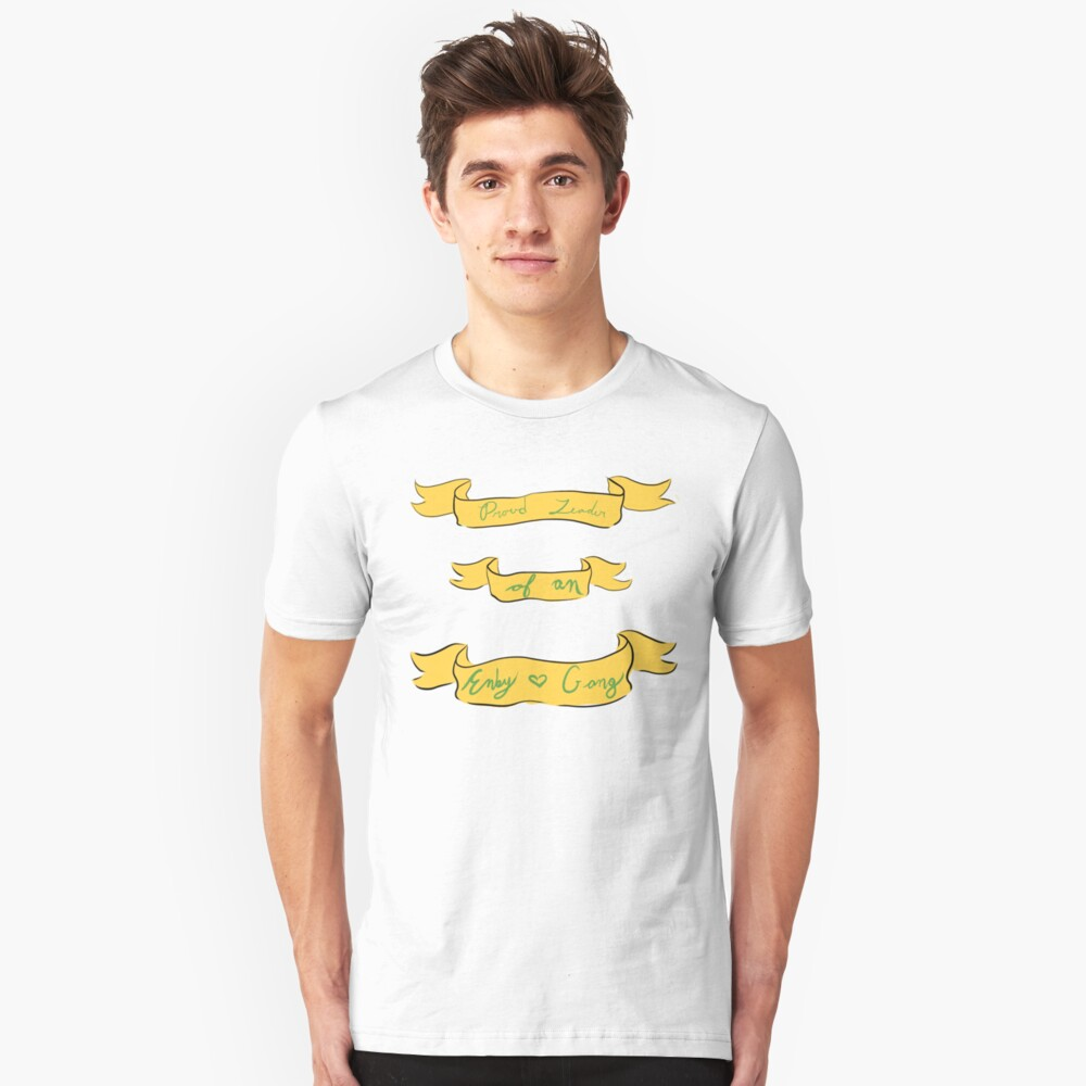 Enby Gang- In Green and Yellow Unisex T-Shirt Front