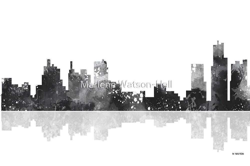 Detroit Michigan Skyline by Marlene Watson