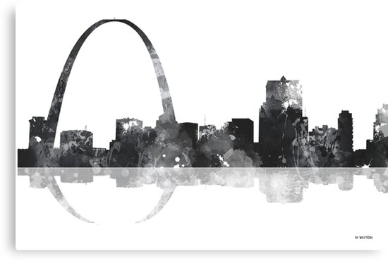 Gateway Arch St Louis Missouri Skyline by Marlene Watson
