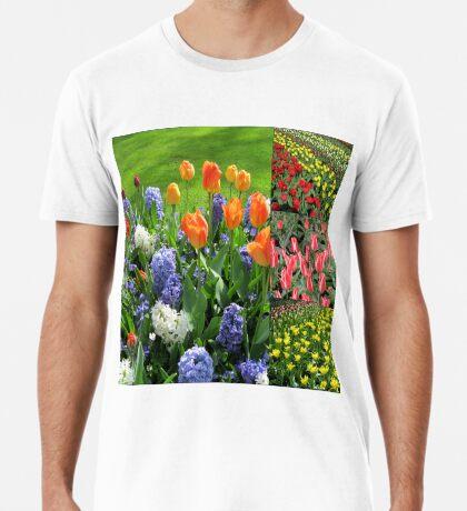 Flamme der Farbe - Keukenhof Tulip Collage Premium T-Shirt
