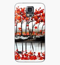 Red Blossom Case/Skin for Samsung Galaxy