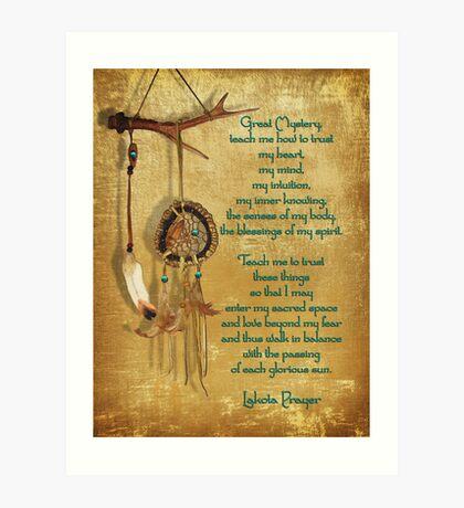 Lakota Gebet Dream Catcher Kunstdruck
