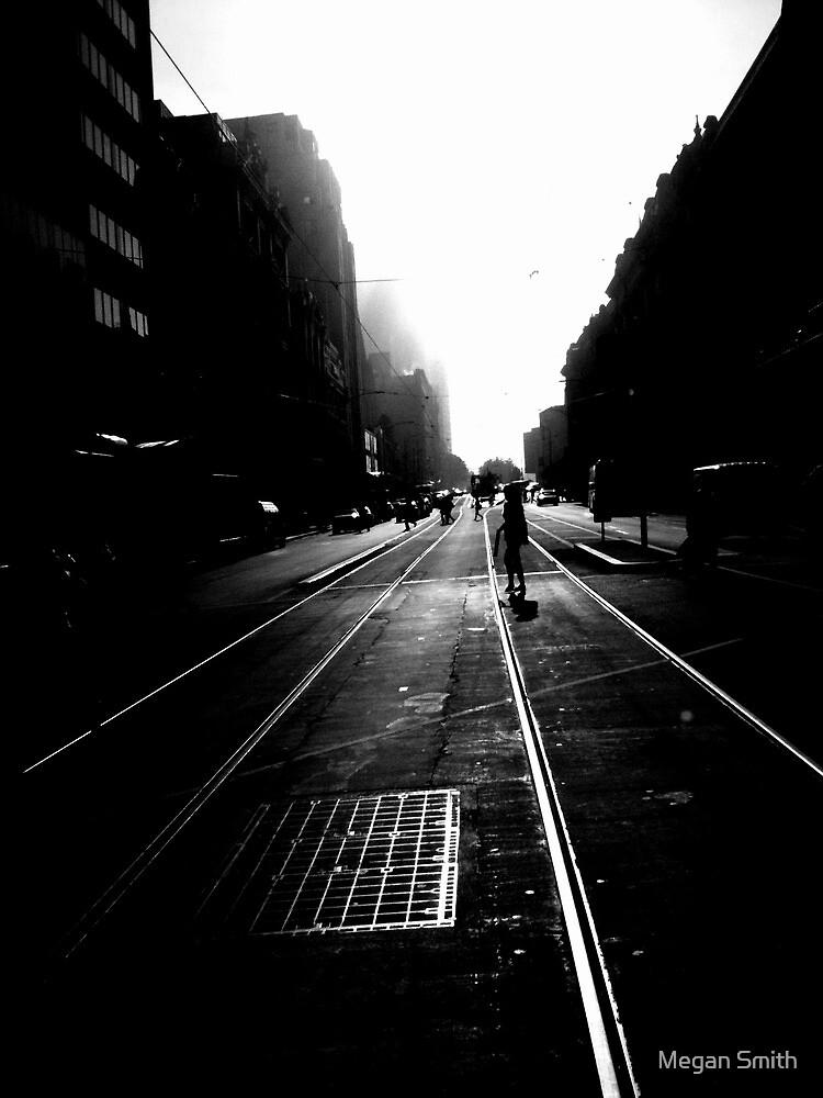 Flinders St Tram Tracks by Tim Smith