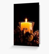 Light In Dark Greeting Card