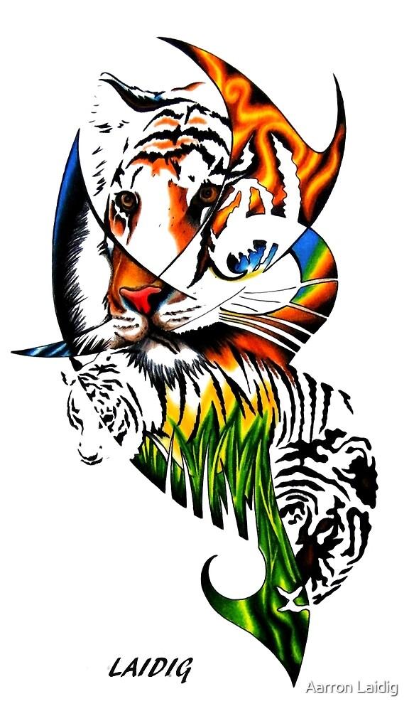 Sumatran Tiger  Panthera tigris sumatrae by Aarron Laidig