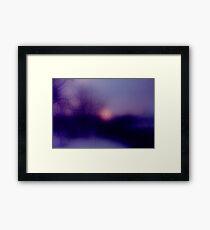 Sunrise in Austria Framed Print