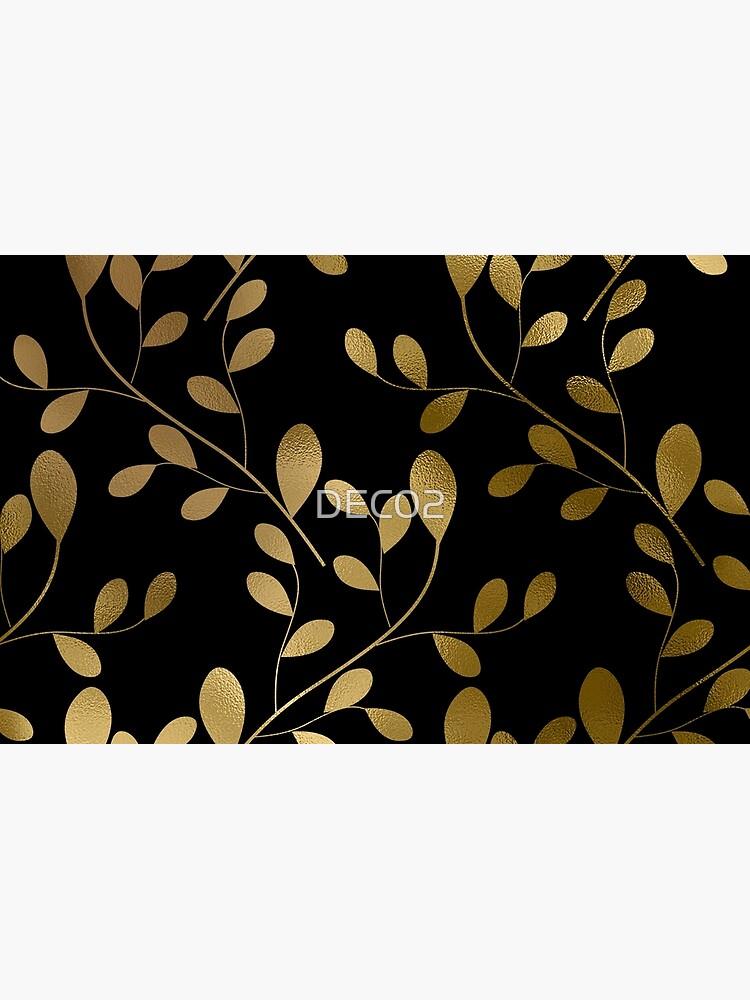 Von Art Deco inspirierte Goldblätter auf Goldreben von DEC02