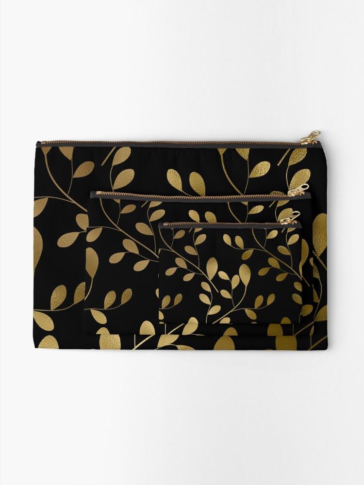 Alternative Ansicht von Von Art Deco inspirierte Goldblätter auf Goldreben Täschchen