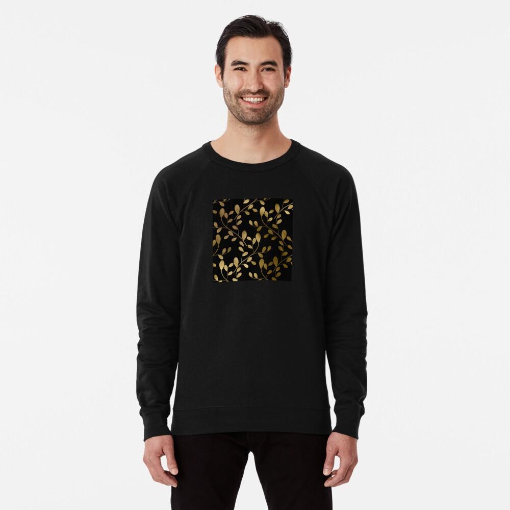 Von Art Deco inspirierte Goldblätter auf Goldreben Leichter Pullover
