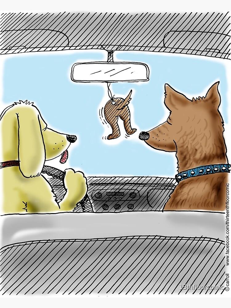Doggie Air Freshener - doggone true by 13thfloorcomic