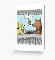 Doggie Lufterfrischer - Doggone true Grußkarte