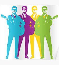 Retro Orbison Guitar Print Poster