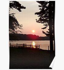 Surreal Lake Sunset Poster