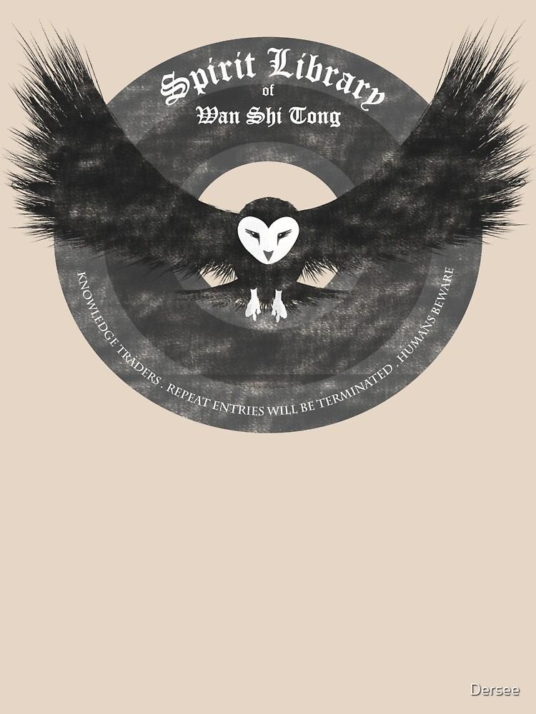 Avatar's Wan Shi Tong Library Logo Grey by Dersee