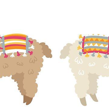 Alpaca, Llama, peculiar, pegatina de SouthPrints
