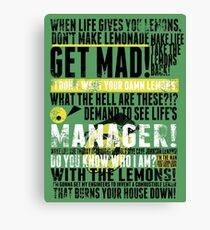 Piece a Week #16: Lemons Canvas Print
