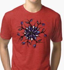 Weird Floral Mandala With Teeth Tri-blend T-Shirt