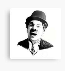 Portrait of Charlie Chaplin Metal Print