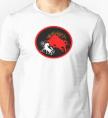 Unicorn vs the Red Bull Unisex T-Shirt