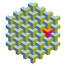 Be yourself - geomtric op art pattern by VrijFormaat